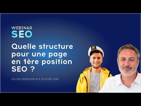 Quelle structure pour une page en 1ere position SEO?